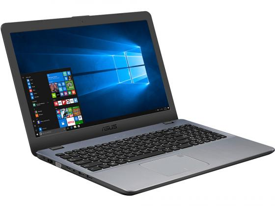 "Ноутбук ASUS VivoBook 15 X542UA-DM749 15.6"" 1920x1080 Intel Core i7-7500U 1 Tb 8Gb Intel HD Graphics 620 серый DOS 90NB0F22-M10130"