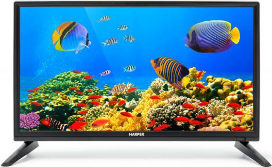 "Телевизор LED 20"" Harper 20R470T черный 1366x768 50 Гц — VGA Разьем для наушников цена и фото"