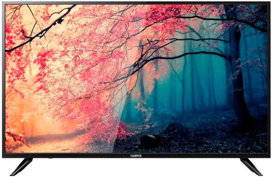 "цена Телевизор 49"" Harper 49U750TS черный 3840x2160 Wi-Fi Smart TV SCART USB онлайн в 2017 году"