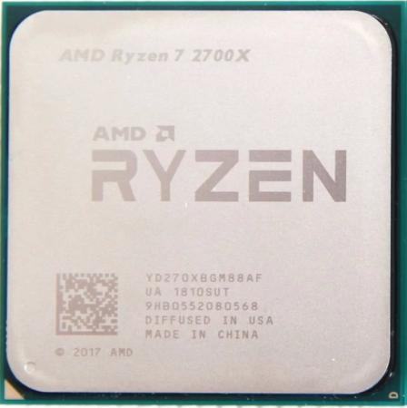 Процессор AMD Ryzen 7 2700X YD270XBGM88AF Socket AM4 OEM процессор amd ryzen 3 2200g yd2200c5m4mfb socket am4 oem