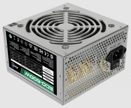 Блок питания ATX 600 Вт Aerocool ECO-600W блок питания 600w aerocool kcas 600w