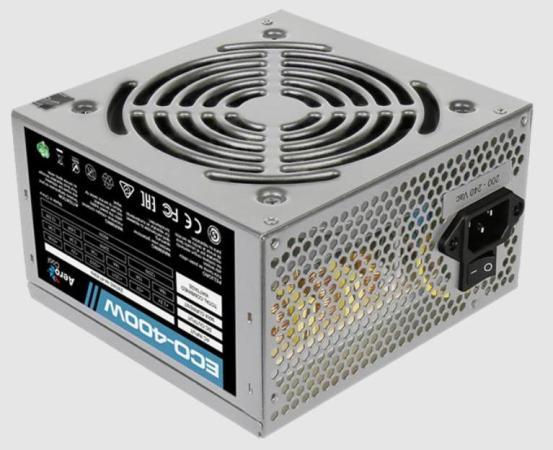 Блок питания ATX 400 Вт Aerocool ECO-400W цена и фото