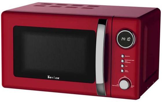 Микроволновая печь TESLER ME-2055 (20 литров, 700 Вт, механическое упр., красный) микроволновая печь tesler me 2052 700 вт белый