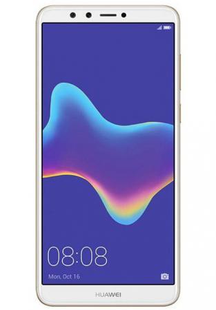 Смартфон Huawei Y9 2018 золотистый 5.93 32 Гб LTE Wi-Fi GPS 3G смартфон samsung galaxy j2 2018 золотистый 5 16 гб lte wi fi gps 3g sm j250fzddser