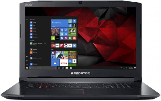 Ноутбук Acer Predator Helios 300 PH317-51-59Q5 Core i5 7300HQ/8Gb/1Tb/SSD128Gb/nVidia GeForce GTX 1050 Ti 4Gb/17.3/IPS/FHD (1920x1080)/Linux/black/WiFi/BT/Cam NH.Q2MER.014 ноутбук acer predator triton 700 pt715 51 78su 15 6 1920x1080 intel core i7 7700hq nh q2ker 003