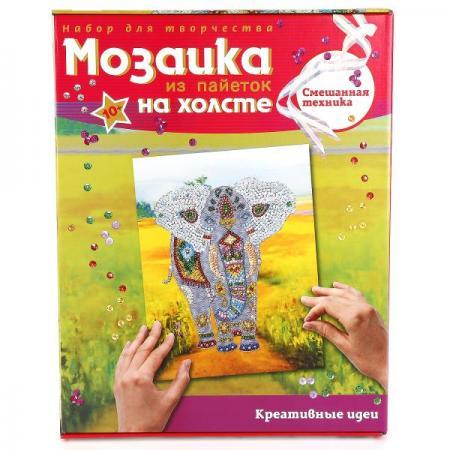 Мозаика ВОЛШЕБНАЯ МАСТЕРСКАЯ МХ-03 Слон (на холсте)