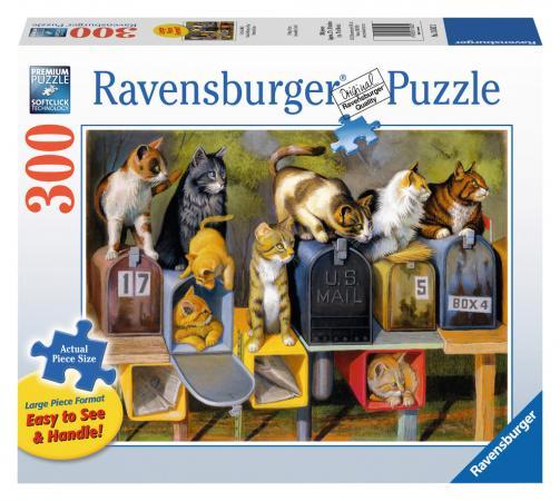 Пазл 300 элементов Ravensburger Почтовые коты 13562
