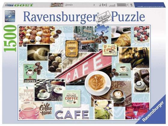 Пазл 1500 элементов Ravensburger Кофе и сладости 16346 пазл ravensburger рысью в прибое 1500 элементов