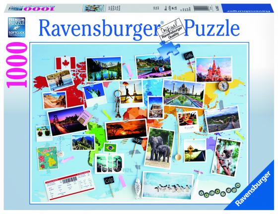 Пазл «Воспоминания о путешествиях» 1000 шт пазл ravensburger озеро эйб 1000 элементов