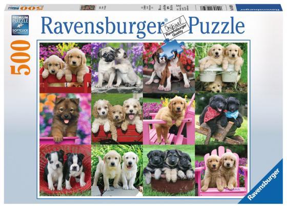 Пазл 500 элементов Ravensburger Друзья-щенки 14659