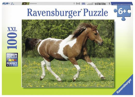 Пазл 100 элементов Ravensburger Пегий конь 10848 ravensburger принцессы на прогулке пазл 15 элементов