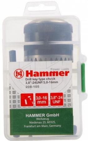Патрон Hammer Flex 208-105 CH-1 3,0-16мм/3,8-24UNF 3,0-16мм + переходник SDS+
