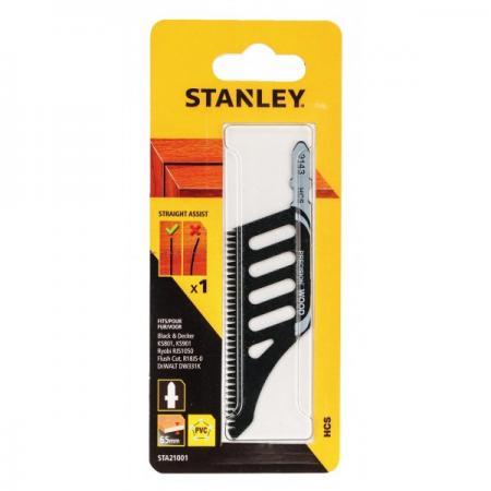 Пилки для лобзика STANLEY STA21001-XJ по дереву HCS чистый допиливающий пропил заподлицо 1 шт stanley 36030 xj щетка чашечная для дрели d50 мм