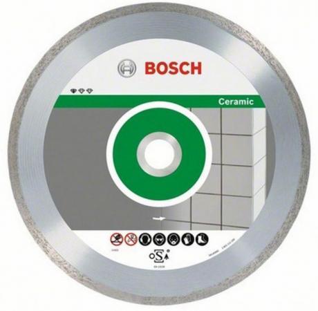 Диск алм. BOSCH Ceramic 65x15 корона (сплошной) (2.609.256.425) 65 Х 15 корона (сплошной) диск алм bosch standard for ceramic 115x22 корона сплошной 2 608 602 201 115 х 22 корона спло
