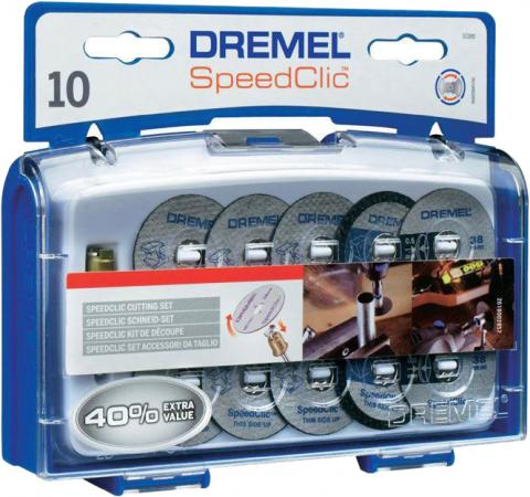 Набор насадок DREMEL SC690 SPEED CLIC 10 кругов + держатель держатель для насадок sc dremel 2615s402jb