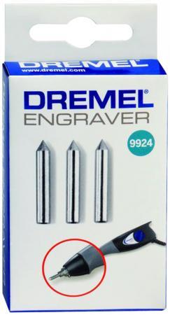Насадка DREMEL 9924 карбидная, для гравера ENGRAVER 290, 3шт. батарея аккумуляторная для гравера dremel 875