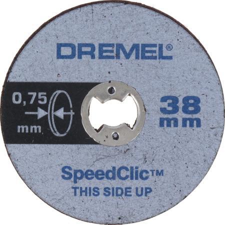 цена на Круг отрезной DREMEL SC409 SPEED CLIC 38мм, толщ.0.75мм, 5шт.