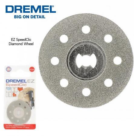 Круг отрезной алмазный DREMEL SC545 SPEED CLIC 38мм без держателя цена и фото