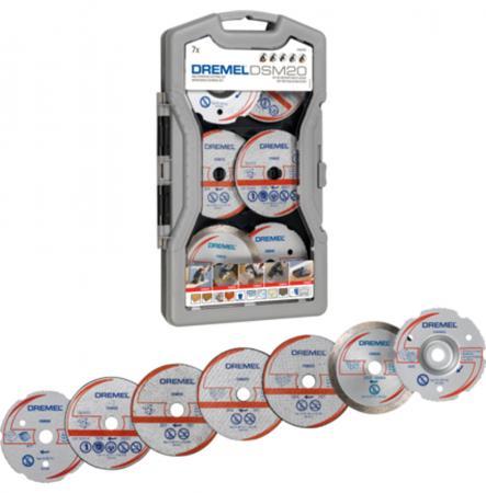 Набор отрезных дисков для DREMEL DSM20 7 шт (2615S705JA) бижутерия pandora 925 790122