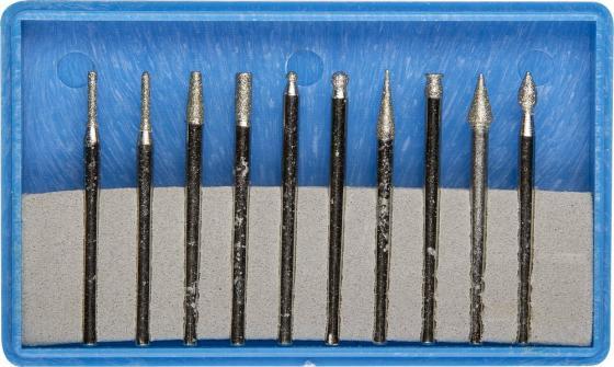 Набор шарошек ЗУБР 33383-H10 P180 хвостовик d3мм 10пр.