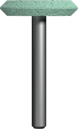 Шарошка абразивная ПРАКТИКА 641-398 дисковая 32х6мм, хв.6мм, карбид кремния, Эксперт