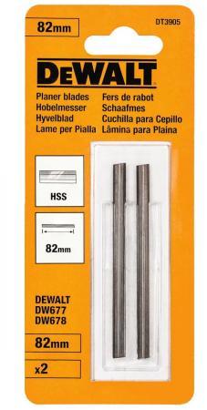 Ножи для рубанка DeWALT DT3905-QZ HSS, двусторонние, 80мм, 2шт.