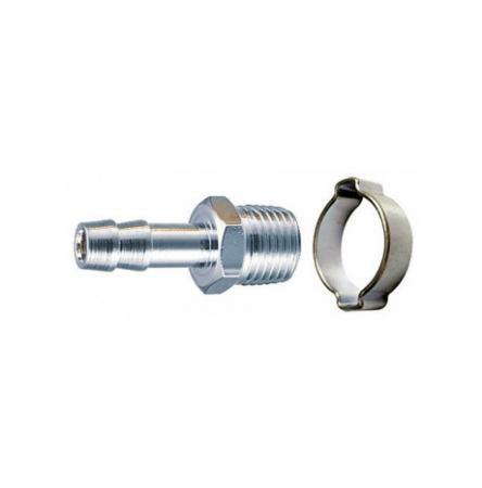 Переходник FUBAG 180261 1/4M на елочку 8мм с обжимным кольцом 8x13мм