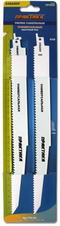 Полотно для сабельной пилы ПРАКТИКА 773-576 (S4860DF) дерево/мет, 300мм, шаг 4, BiM, 2шт. полотно для сабельной пилы hammer rs bl 001