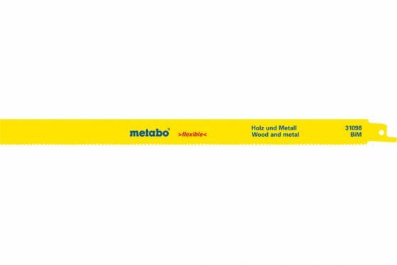 Полотно для сабельной пилы METABO 631098000 S1222VF 2шт. BiM 300x0.9/1.8-2.6 дерево с гвоздями полотно для сабельной пилы metabo 631120000 s644d 2шт hcs 150x1 25 4 0мм дерево
