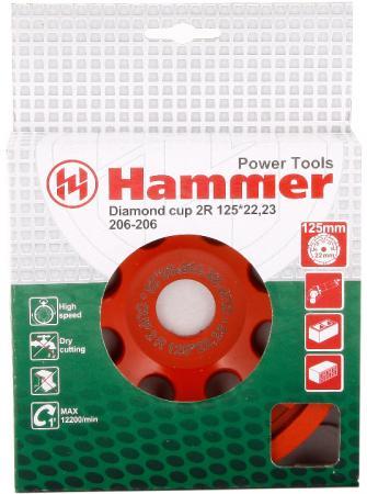 цена на Чашка алм. Hammer Flex 206-206 CUP 2R 125*22мм двухрядная
