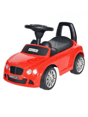Каталка-машинка Everflo Bentley Continental GT Speed EC-626 пластик от 1 года на колесах красный каталка машинка everflo range rover evoque ec 648 пластик от 1 года на колесах синий