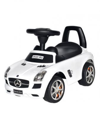Каталка-машинка Everflo Mercedes-Benz EC-632 пластик от 1 года на колесах белый стоимость