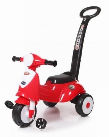 Каталка Baby Care Smart Trike пластик от 1 года с ручкой для родителей красный цены онлайн