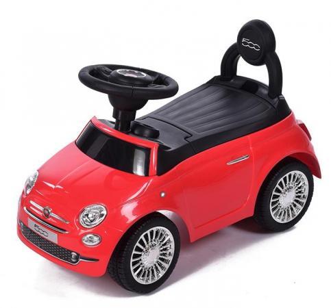 Каталка-машинка Baby Care Fiat 500 пластик от 1 года на колесах красный каталка машинка технок мотоцикл гонки с педалями 4135 пластик от 3 лет на колесах черно красный