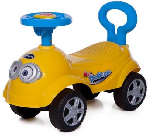 Каталка-машинка Baby Care QT Racer пластик от 1 года на колесах желтый каталка на палочке s s toys вертолет желтый от 1 года пластик