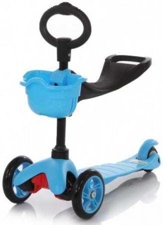 Самокат трехколёсный 21st Scooter Maxi Scooter SKL-06B 120/80 мм синий беговелы самокаты велосипеды электромобили 21st scooter 21st scooter