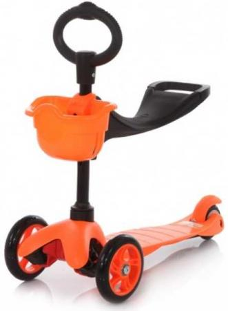 Самокат трехколёсный 21st Scooter Maxi Scooter SKL-06B 120/80 мм оранжевый children s scooter 3 round 4 wheel flash pedal multi function baby walkers triad scooter