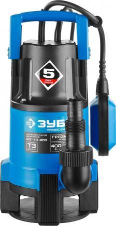 Насос ЗУБР НПГ-Т3-400 профессионал т3 погружной дренажный для грязной воды d частиц до 35мм 400Вт насос погружной зубр нпг т3 400