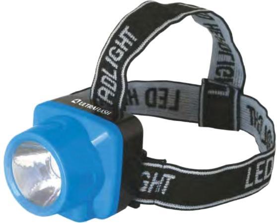 Фонарь ULTRAFLASH LED5374 фонарь налобн аккум 220В. голубой. 0.4 Ватт LED. 1 реж. пласт. бокс фонарь ultraflash e157 налоб аккум 220в желтый cree 3 ватт фокус 3 реж пласт бокс