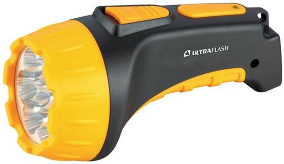 Фонарь ULTRAFLASH LED3807 7 LED 2 режима черный/желтый аккумуляторный