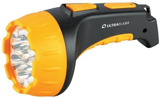 Фонарь ручной Ultraflash LED3815 чёрный желтый цена