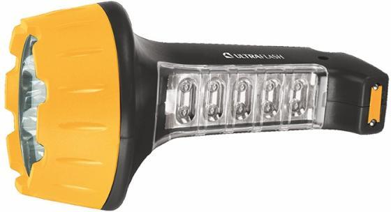 Фонарь ручной Ultraflash LED3819 чёрный желтый фонарь ultraflash e157 налоб аккум 220в желтый cree 3 ватт фокус 3 реж пласт бокс