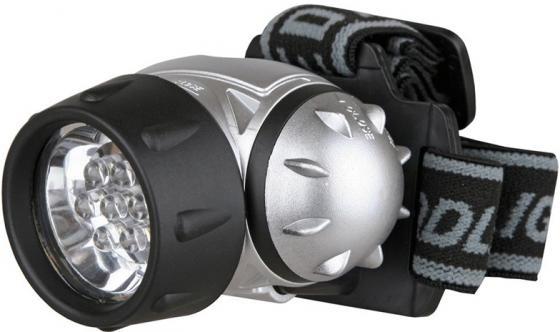 Фонарь ULTRAFLASH LED5351 налобн металлик 7led 3 реж 3xr03 пласт коробка