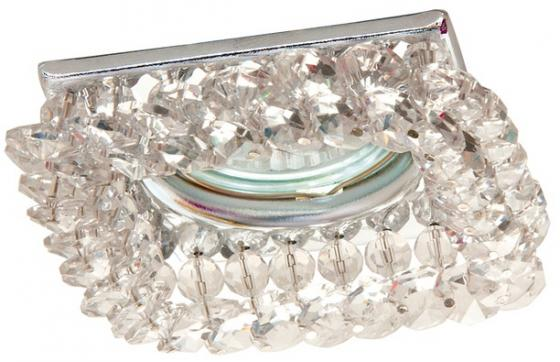 Светильник встраиваемый АКЦЕНТ Crystal 530 хром/прозрачный квадратный, MR16 GU5.3 светильник встраиваемый акцент versace 16159ba золото