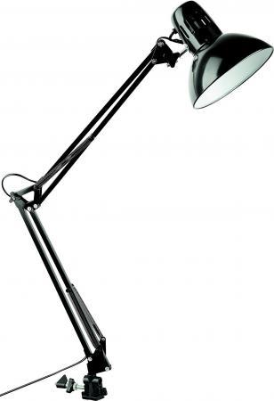 Настольная лампа ARTE LAMP SENIOR A6068LT-1BK 1х40W 1хE27 L17xW17xH85 металл/пластик металл