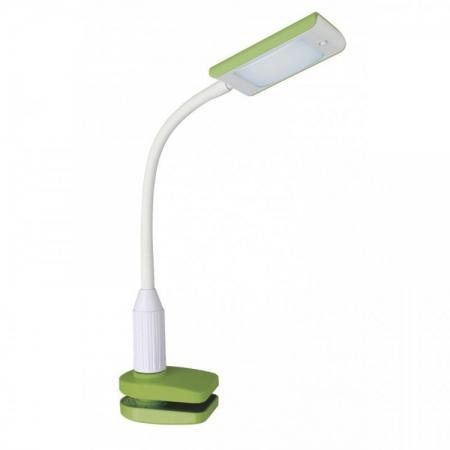 Лампа настольная CAMELION KD-789 C34 зелёный & белый LED. зажим-струбцина. 7 Вт. 230В. 4000К