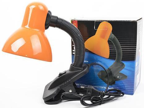 Лампа настольная UNIEL TLI-206 Orange 60 Ватт, E27, на прищепке, оранжевый uniel usn 10