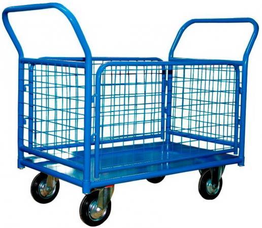 Тележка СТЕЛЛА КПО-500 С борт-сетка 200-К платформенная 4 колеса платформенная 4 х колесная тележка с фанерой стелла кпт 500 150 и