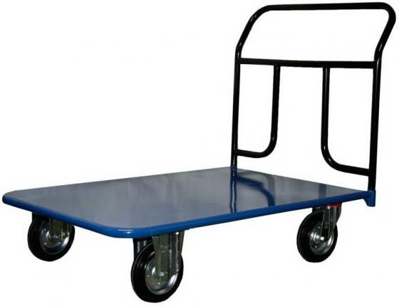Тележка СТЕЛЛА КП-350 600х1200 125-K платформенная 4 колеса тележка стелла кпо 500 с борт сетка 200 к платформенная 4 колеса