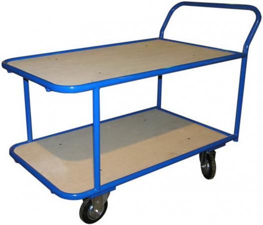 Тележка СТЕЛЛА КП-2 2-х ярусн 200-И платформенная 4 колеса платформенная тележка с сетчатыми бортами и складными ручками rusklad 700х1200 колеса тсрс 5 160